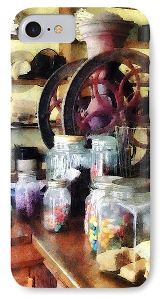 General Store With Candy Jars Phone Case by Susan Savad