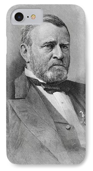General Ulysses Simpson Grant, Engraved From A Photograph, Illustration From Battles And Leaders IPhone Case