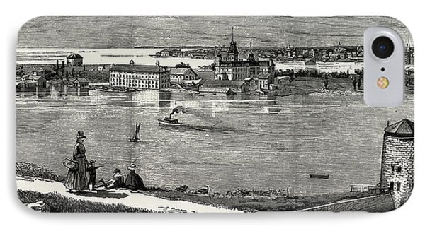 General View Of Wolfe Island, British Naval Defences IPhone Case by Litz Collection