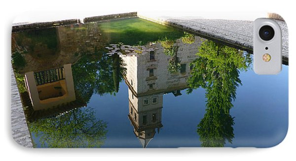 IPhone Case featuring the photograph Generalife Pool At The Alhambra by Susan Alvaro