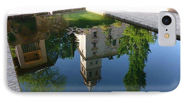 Generalife Pool At The Alhambra IPhone Case by Susan Alvaro