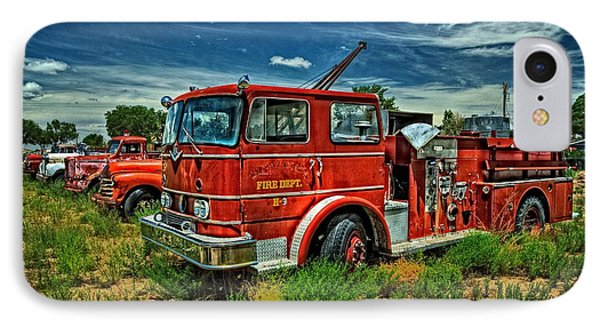 IPhone Case featuring the photograph Generations Of Fire Fighting Equipment by Ken Smith