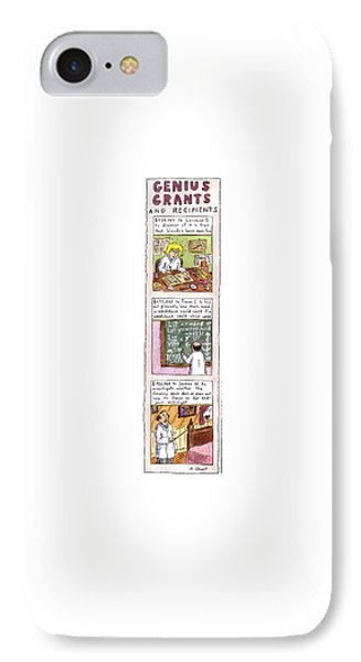Genius Grants And Recipients IPhone Case