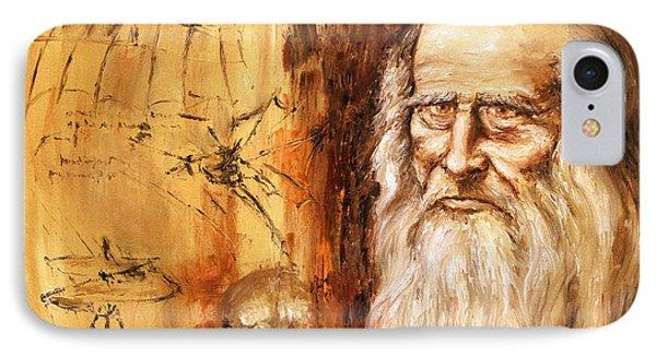 Genius   Leonardo Da Vinci IPhone Case by Arturas Slapsys