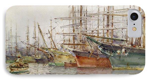 Genoa Harbour, 1904 Phone Case by Henry Scott Tuke