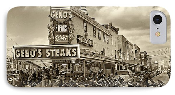 Geno's With Cycles Phone Case by Jack Paolini
