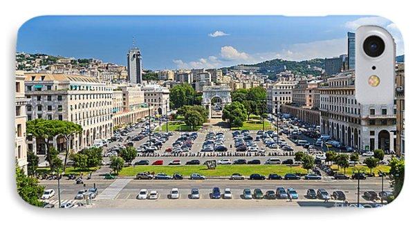 Genova - Piazza Della Vittoria Overview IPhone Case by Antonio Scarpi