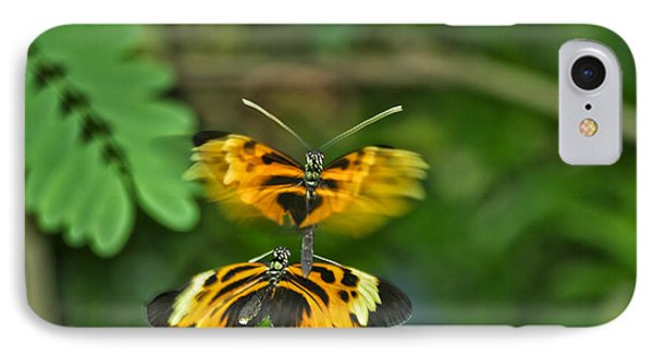 IPhone Case featuring the photograph Gentle Butterfly Courtship 03 by Thomas Woolworth
