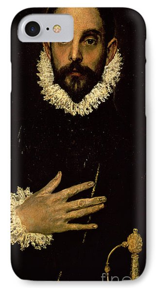 Gentleman With His Hand On His Chest Phone Case by El Greco Domenico Theotocopuli