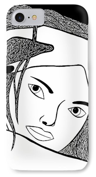 IPhone Case featuring the drawing Genuine by Jamie Lynn