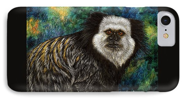 IPhone Case featuring the drawing Geoffrey's Marmoset by Sandra LaFaut