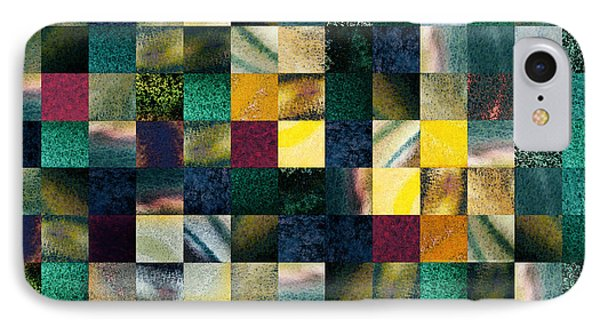 Geometric Abstract Design Forest Lights IPhone Case by Irina Sztukowski