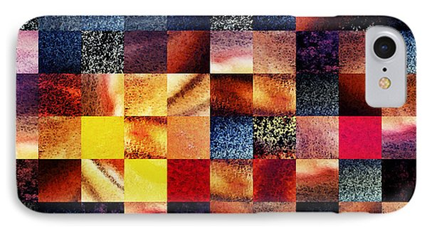 Geometric Abstract Design Sunrise Squares IPhone Case by Irina Sztukowski