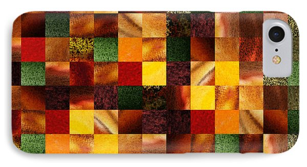 Geometric Abstract Quilted Meadow IPhone Case by Irina Sztukowski