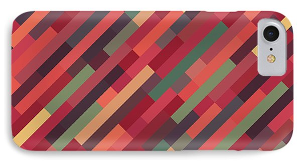 Geometric Block IPhone Case by Mike Taylor
