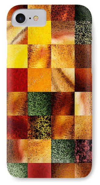 Geometric Design Squares Pattern Abstract I  IPhone Case by Irina Sztukowski