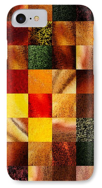 Geometric Design Squares Pattern Abstract II IPhone Case by Irina Sztukowski