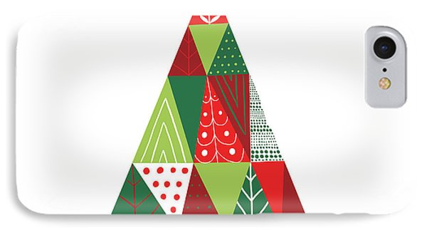 Geometric Holiday Trees I IPhone Case by Michael Mullan