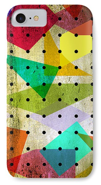 Geometric In Colors  IPhone 7 Case by Mark Ashkenazi