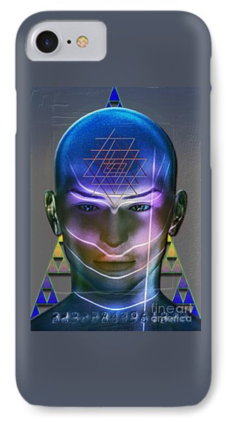 IPhone Case featuring the digital art Geometric Psyche by Shadowlea Is