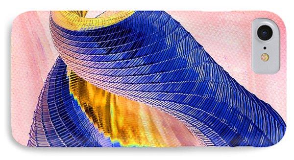 Geometric Shell Art Phone Case by Deborah Benoit