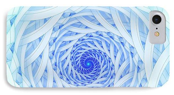 Geometric Spirals IPhone Case by David Parker