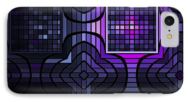 IPhone Case featuring the digital art Geometric Stained Glass by GJ Blackman