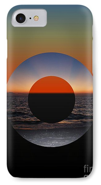 IPhone Case featuring the photograph Geometric Sunset- Circle by Darla Wood