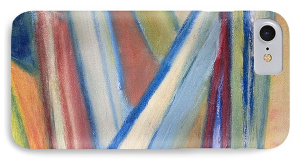 IPhone Case featuring the painting Geometric Tension Series V1 by Patricia Cleasby