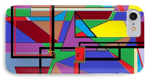 Geometry - Shape On Shape IPhone Case by Eloise Schneider