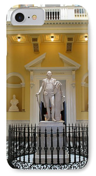 Georg Washington Statue - Capitol Richmond IPhone Case by Christiane Schulze Art And Photography