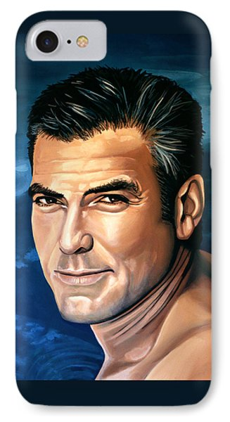 George Clooney 2 Phone Case by Paul Meijering