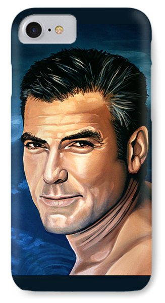 George Clooney 2 IPhone Case by Paul Meijering