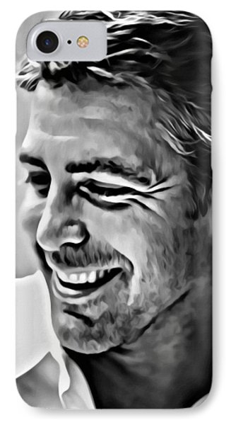 George Clooney Portrait IPhone Case by Florian Rodarte