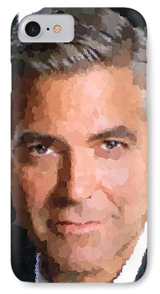 George Clooney Portrait IPhone Case