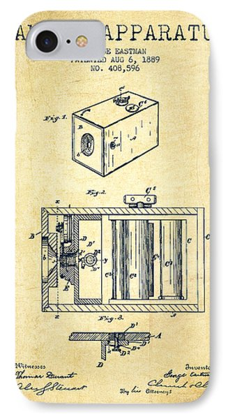 George Eastman Camera Apparatus Patent From 1889 - Vintage IPhone Case by Aged Pixel