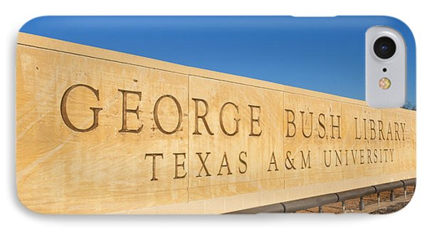 George Bush iPhone 7 Case - George H. Bush Library, Texas by Bill Bachmann
