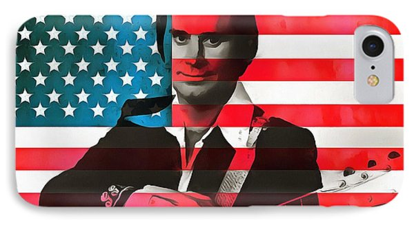 George Jones American Country IPhone Case by Dan Sproul