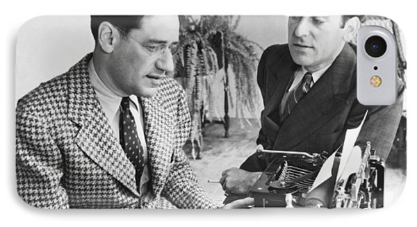 George Kaufman And Moss Hart IPhone Case by Underwood Archives