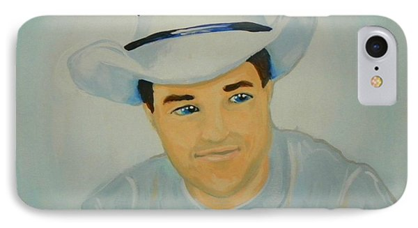 IPhone Case featuring the painting George by Marisela Mungia