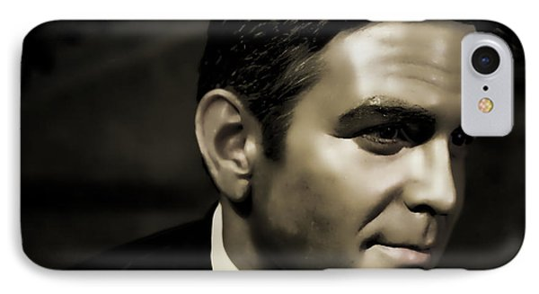 George Timothy Clooney IPhone Case by Lee Dos Santos