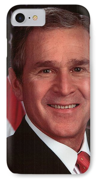 George W Bush IPhone 7 Case by Official Gov Files