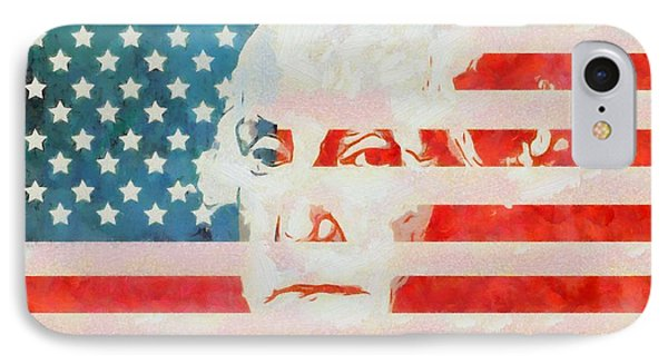 George Washington American Flag IPhone Case by Dan Sproul