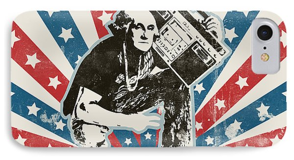 George Washington - Boombox IPhone Case by Pixel Chimp