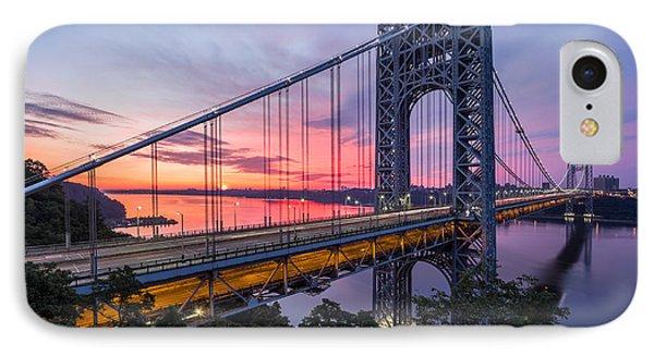 George Washington Bridge IPhone Case by Mihai Andritoiu