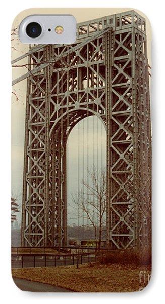 George Washington Bridge Phone Case by Nancie Johnson