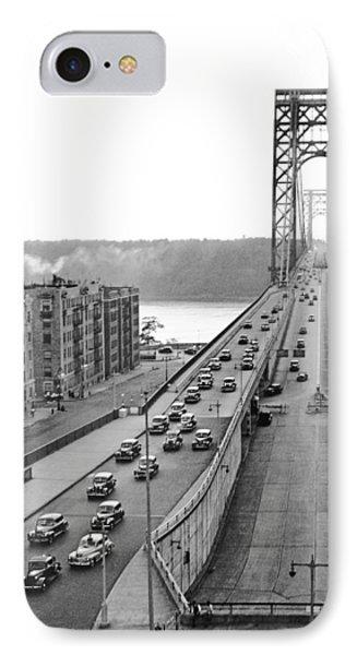 George Washington Bridge, Ny IPhone Case by Underwood Archives