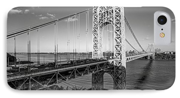 George Washington Bridge Nyc Bw IPhone Case by Susan Candelario