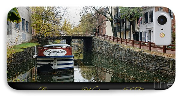 Georgetown Canal Poster IPhone Case by Olivier Le Queinec
