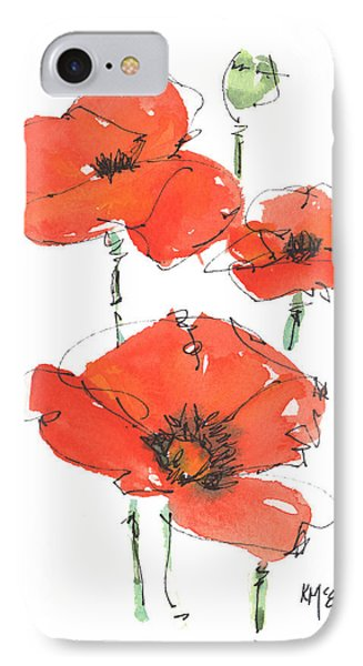 Georgetown Texas The Red Poppy Capital IPhone Case by Kathleen McElwaine